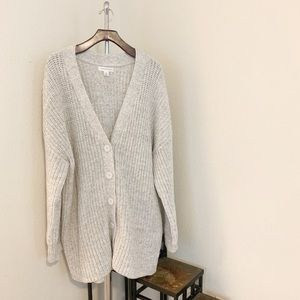 Oversize Knit Cardigan.